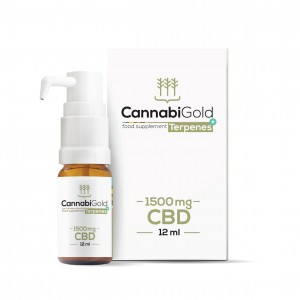 Olejek CBD Cannabigold Terpens+ 1500mg, 12ml